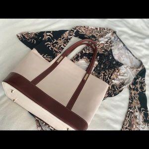 Italian Leather Vittoria Pacini Tote with …